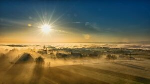 Landscape, Fog, Mood, Sunrise, Coloring